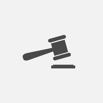court order stamp for judges vector icon law suit