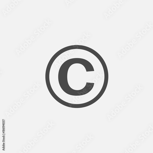 Copyright Sign Capital Letter C With Circle Vector Icon Stockfotos