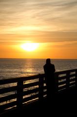 Beachgoers watching beautiful sunset at Mission beach - 3