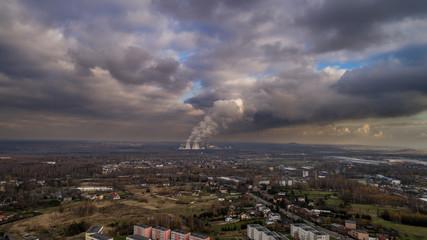 Smog  zagrożenie dym z kominów