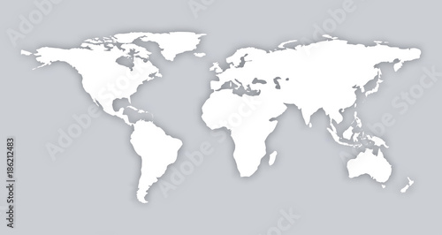 Gray similar world map blank vector flat template object gray similar world map blank vector flat template object infographic art card stock isolated world gumiabroncs Images