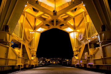 Canvas Prints Port Titan yellow crane on Island of Nantes (Loire-Atlantique, France