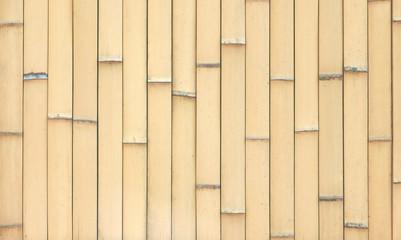 Outdoor garden bamboo fence textured background