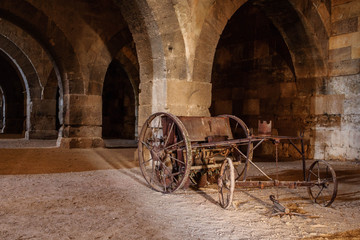 The Sultanhani Caravanserai, Aksaray, Turkey. Silk Road. Main hall.