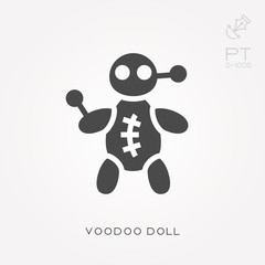 Silhouette icon voodoo doll