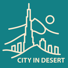 City in desert template