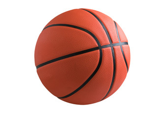 Basketball isolated on a white background as a sports and fitness symbol of a team leisure activity...