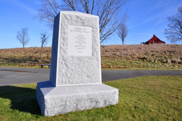 Memorial Monument in Saratoga National Historical Park, Saratoga County, Upstate New York, USA. This is the site of the Battles of Saratoga in the American Revolutionary War.
