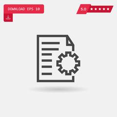 file vector icon.
