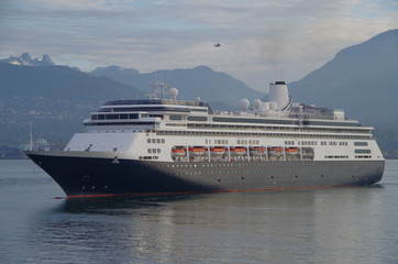 Cruise ship arrives to Vancouver from Alaska cruise