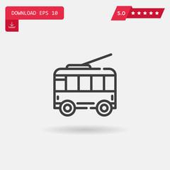 trolley vector icon.