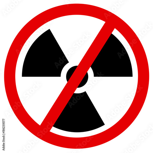 Phase Out And Discontinuation Of Atomic And Nuclear Power Symbol Of