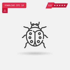 ladybug vector icon.