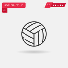 volleyball vector icon.
