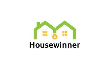 House Roof Medal Logo Symbol Design Illustration