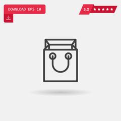 shopping bag vector icon.