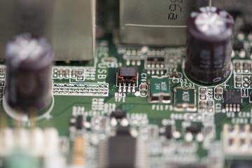 electronic components of a motherboard