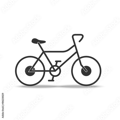 Bicycle Flat Icon On White Background Vector Bike Sign Illustration