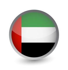 UAE Flag Round Glossy Icon
