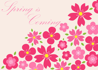 Spring background. Spring is coming. Vector illustration. eps 10