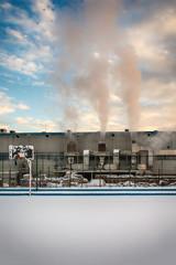 Belgrade, Serbia January 12, 2017: Paper Factory in Belgrade