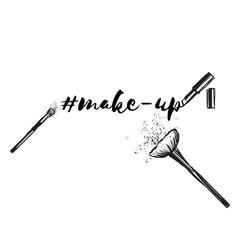 Beauty concept. Makeup artist fashion logo. Lettering fashion illustration.
