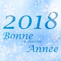 Carte de Voeux - Bonne année 2018 carrée