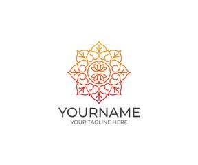 Ornament Logo Template. Ethnic Vector Design. Tracery Illustration