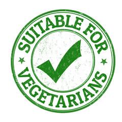 Suitable for vegetarians grunge rubber stamp