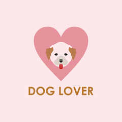 Dog Lover Vector Template Design