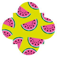 frame with watermelon pattern background vector illustration design