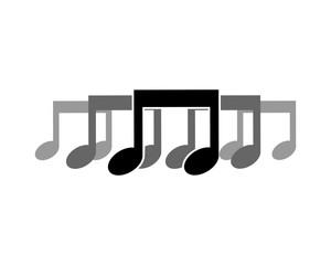 musical notes icon tone tune rhythm image vector