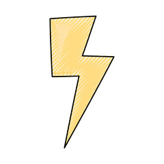Ray energy symbol cartoon