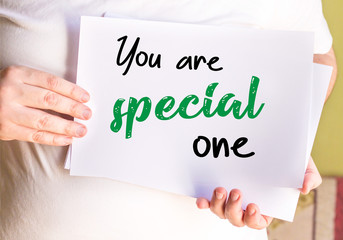 you are special one, on whit paper