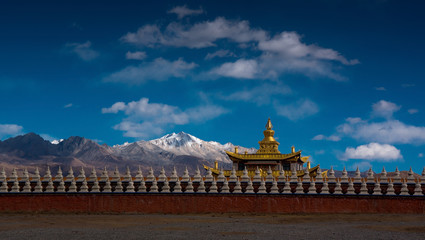 The landscape of Tibetan area in Western China
