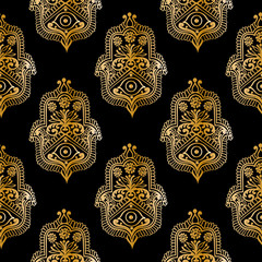 ethnic pattern with hamsa