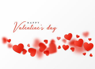 happy valentine's day card design with floating hearts