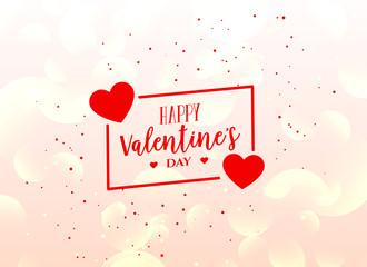 valentine's day shiny greeting design