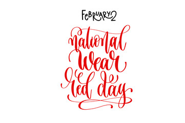 february 2 - national wear red day - heart disease help in Unite