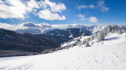Austrian Alps in Salzburger Land in Winter