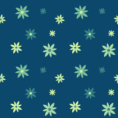 Abstract flowers seamless pattern. For print, fashion design, wrapping wallpaper