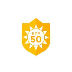 UV, sun protection SPF 50 icon on white