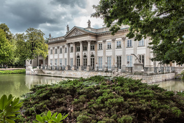 Palace on the water in Warsaw, Poland