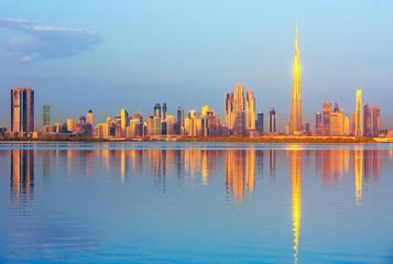Printed roller blinds Dubai View on Dubai skyline at the sunrise, Dubai, United Arab Emirates