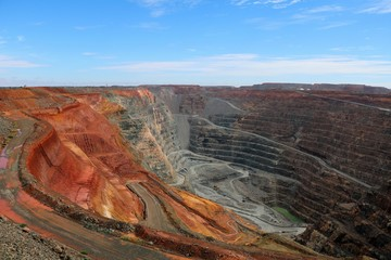 View into the interior of the Gold mine Super Pit, Western Australia