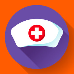 Nurse hat icon vector flat nurse icon.
