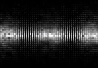 Black mosaic with white horizontal white light stripe