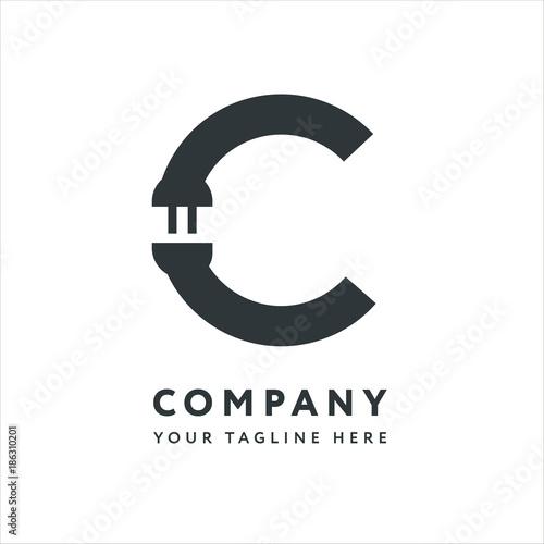 Letter C Logo Design Emblem Template. Creative Electronics ...