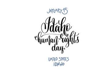 january 15 - Idaho human rights day - united states idaho