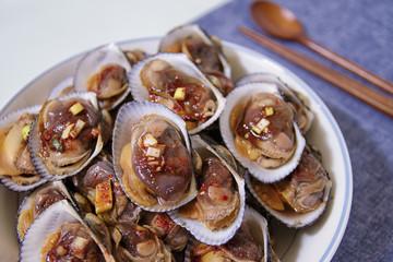 Soy sauce seasoned with cockle - korean food